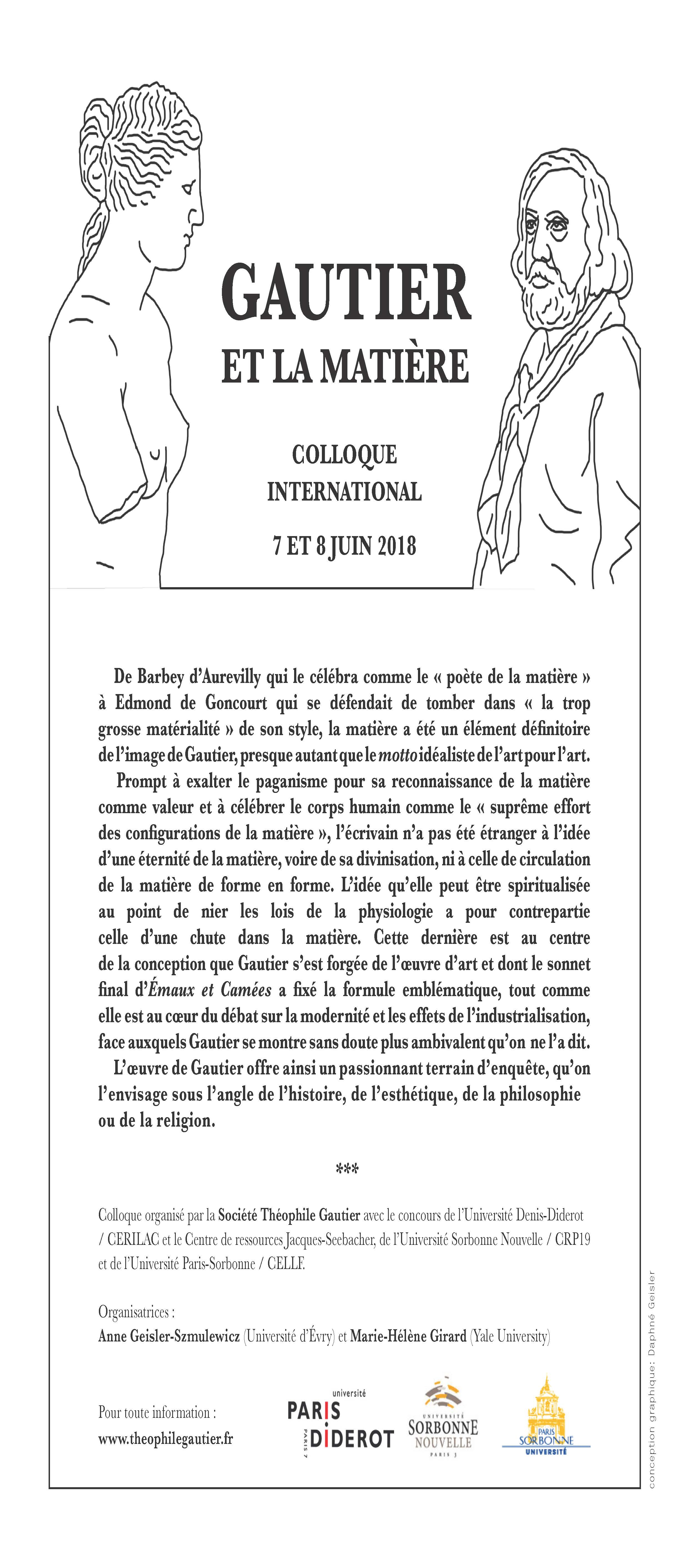 Affiche-programme Colloque Gautier page 1