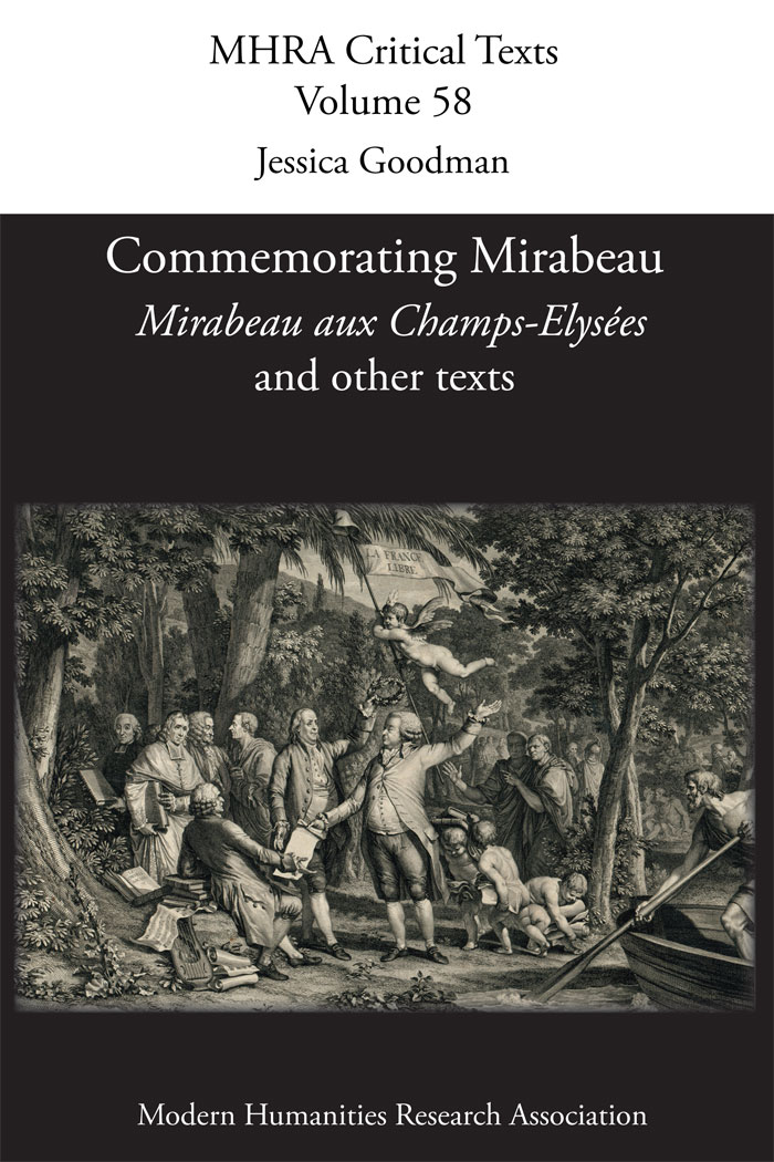 Couverture Goodman Commemorating Mirabeau