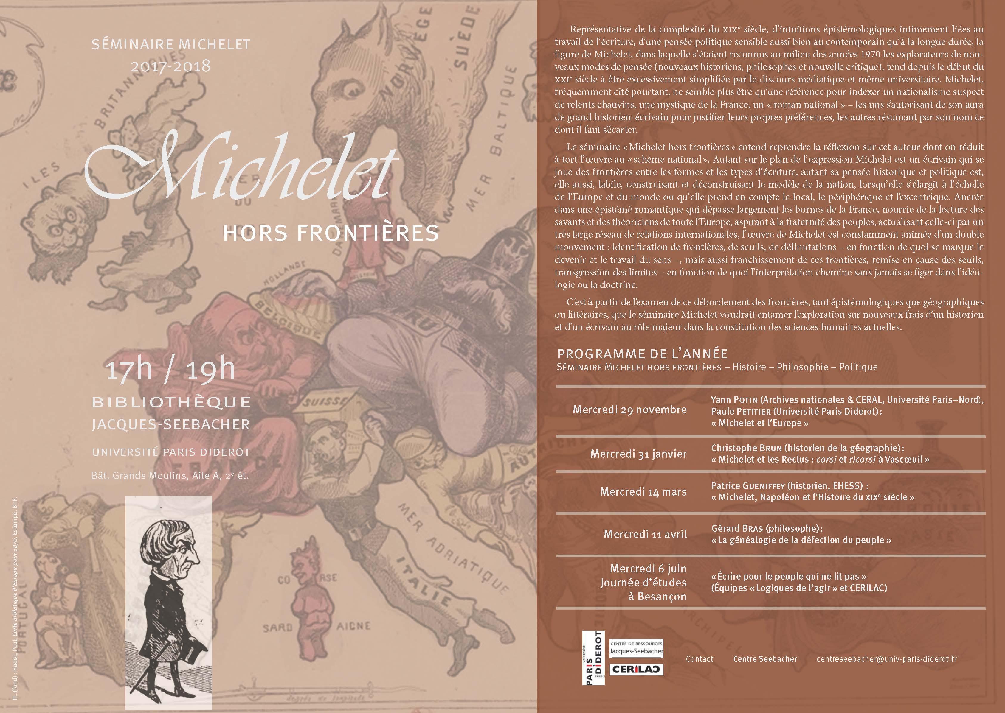 Séminaire Michelet 2017-2018