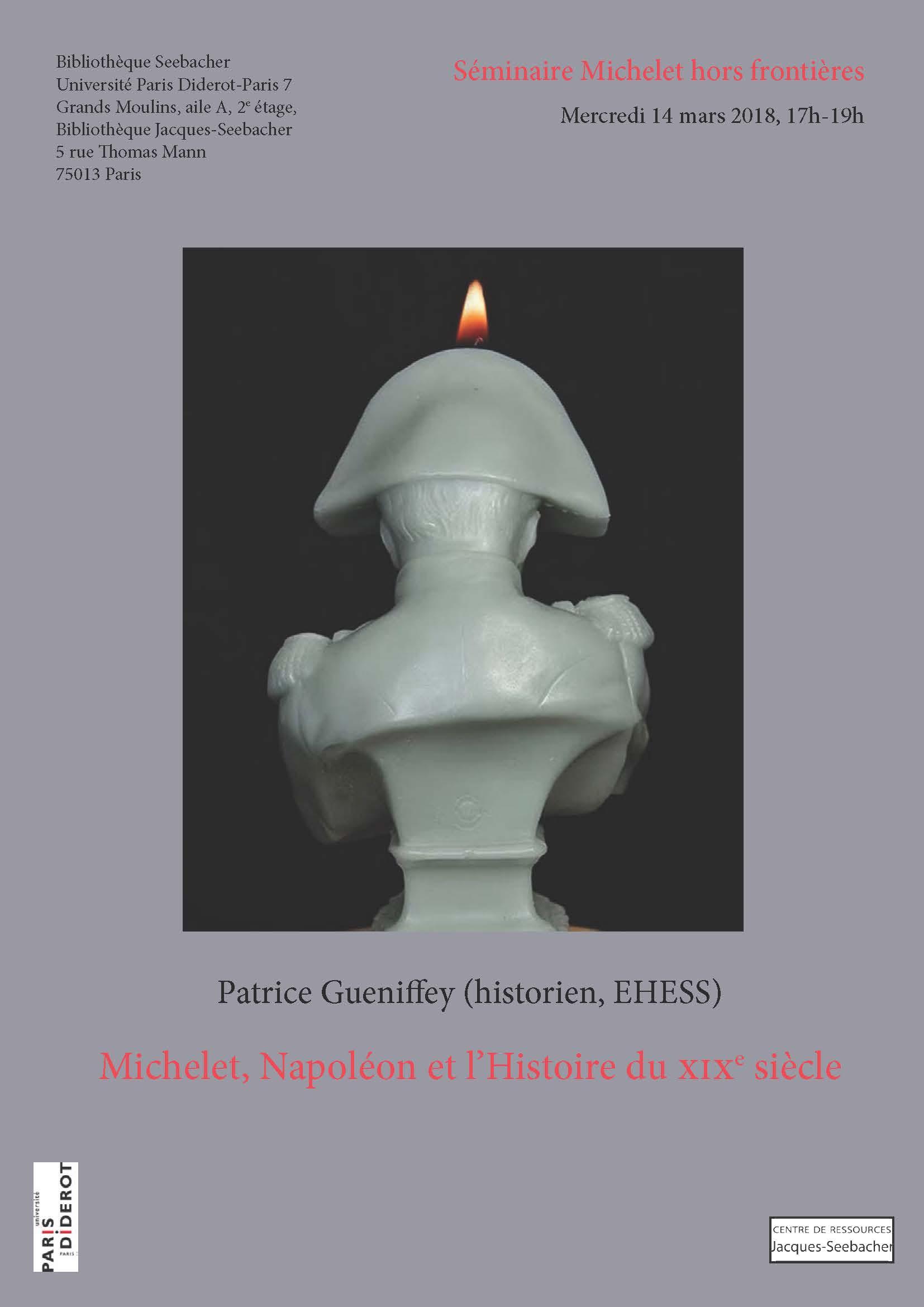 Affiche séance séminaire Michelet Patrice Gueniffey 14-03-2018